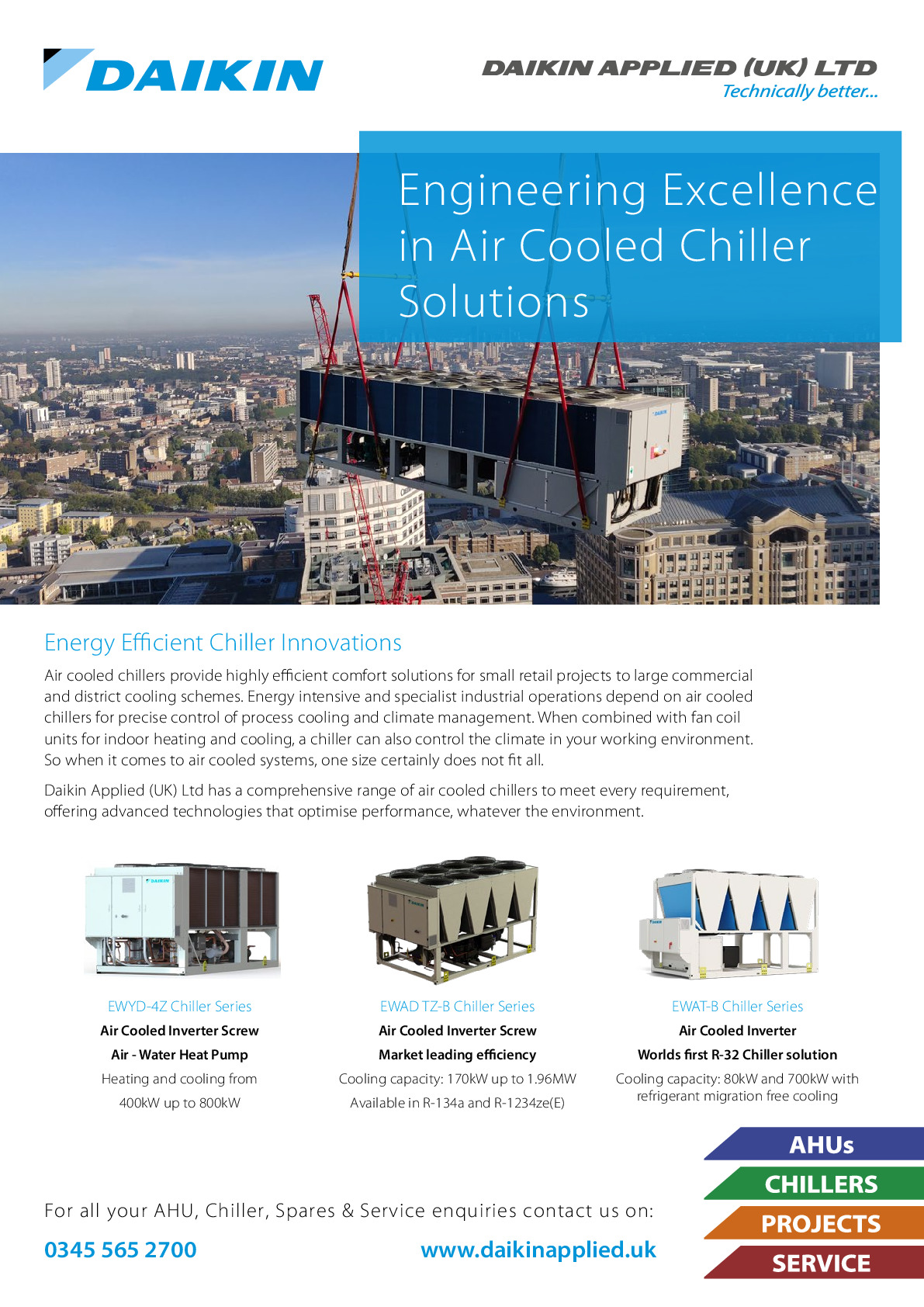 Daikin Applied (uk) Ltd - Ahu & Chiller Specialist advertisement 1 thumbnail