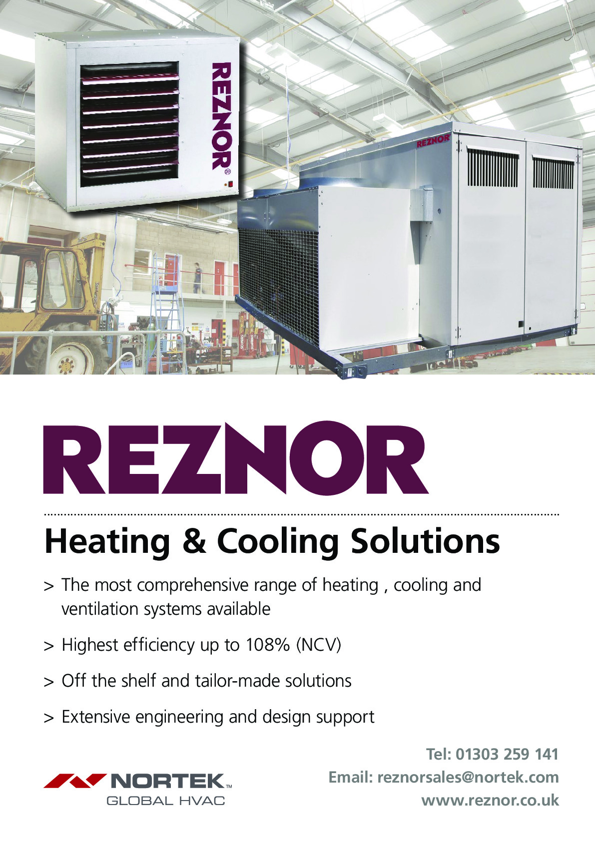 Reznor (a Division Of Nortek Global Hvac) advertisement 3 thumbnail